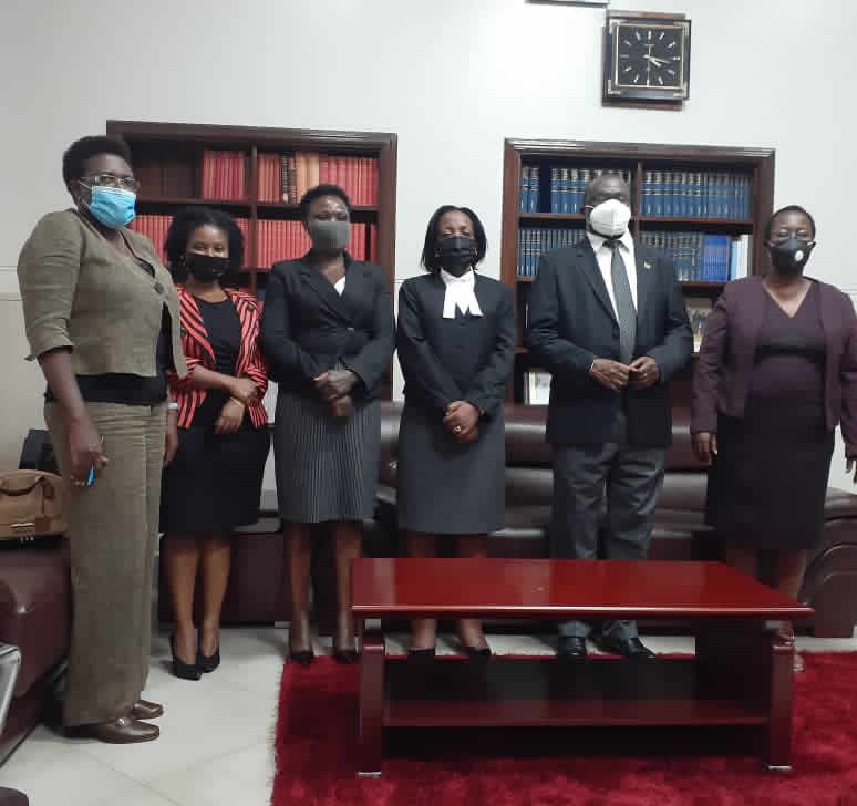 NAWJU Meets the Honorable Chief Justice of Uganda